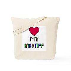 LOVE MY MASTIFF Tote Bag