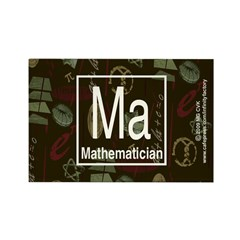 Mathematician Retro Rectangle Magnet (100 pack)
