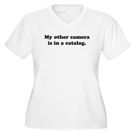 WTD: My other camera is... Women's Plus Size V-Nec