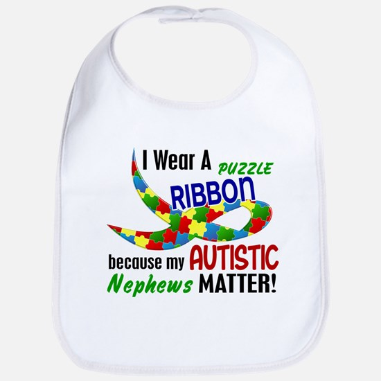 I Wear Puzzle Ribbon Nephews 33 Bib