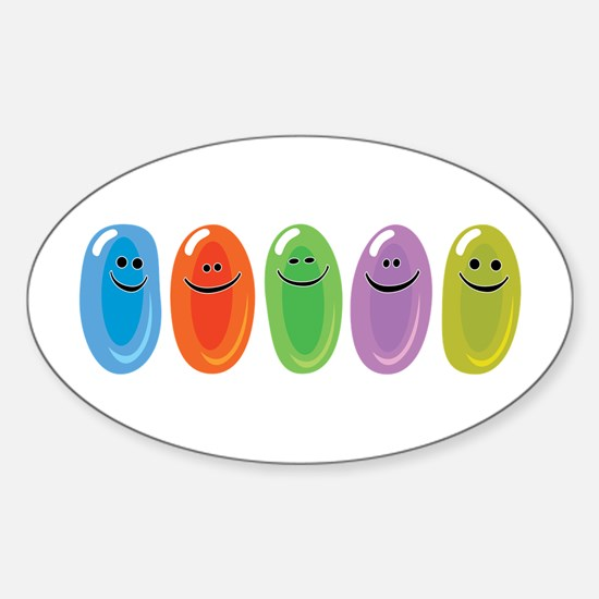 Jelly Beans Oval Decal