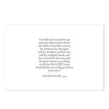DEUTERONOMY  4:34 Postcards (Package of 8)