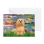 Lilies / Lhasa Apso #9 Greeting Card