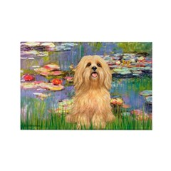 Lilies / Lhasa Apso #9 Rectangle Magnet (10 pack)