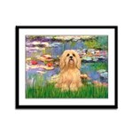 Lilies / Lhasa Apso #9 Framed Panel Print