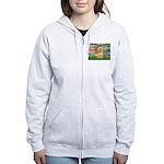 Lilies / Lhasa Apso #9 Women's Zip Hoodie