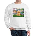 Lilies / Lhasa Apso #9 Sweatshirt
