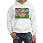 Lilies / Lhasa Apso #9 Hooded Sweatshirt