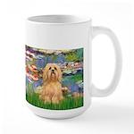 Lilies / Lhasa Apso #9 Large Mug