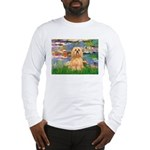 Lilies / Lhasa Apso #9 Long Sleeve T-Shirt