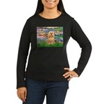 Lilies / Lhasa Apso #9 Women's Long Sleeve Dark T-