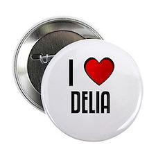 """I LOVE DELIA 2.25"""" Button (100 pack)"""