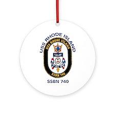 SSBN 740 USS Rhode Island Ornament (Round)