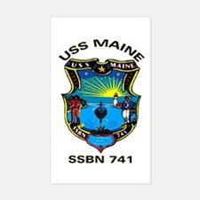 USS Maine SSBN 741 Rectangle Decal