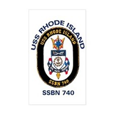 SSBN 740 USS Rhode Island Rectangle Decal