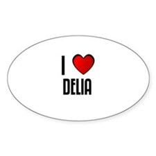 I LOVE DELIA Oval Decal