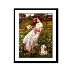 Windflowers / Lhasa Apso #4 Framed Panel Print