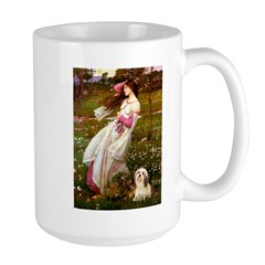 Windflowers / Lhasa Apso #4 Large Mug