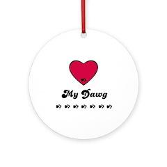 LOVE MY DAWG Ornament (Round)