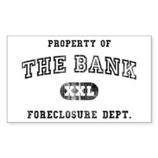 Foreclosure Rectangle Decal