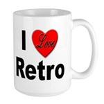 I Love Retro Large Mug