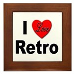 I Love Retro Framed Tile