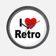 I Love Retro Wall Clock
