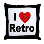 I Love Retro Throw Pillow