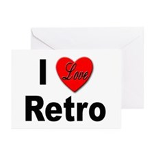 I Love Retro Greeting Cards (Pk of 10)
