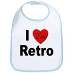 I Love Retro Bib