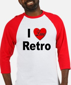 I Love Retro (Front) Baseball Jersey