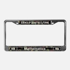 Mathematics Retro License Plate Frame