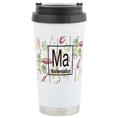 Mathematics Retro Travel Mug