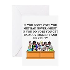 voter government jury duty Greeting Card