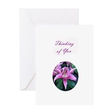 Pink Pollen Lily Greeting Card
