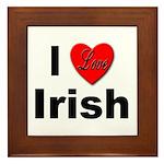 I Love Irish Framed Tile