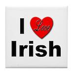 I Love Irish Tile Coaster