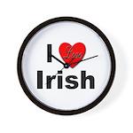 I Love Irish Wall Clock