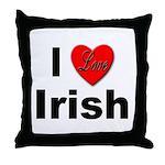 I Love Irish Throw Pillow