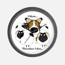 Smooth Collie - I Herd... Wall Clock