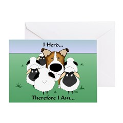 Smooth Collie - I Herd... Greeting Card