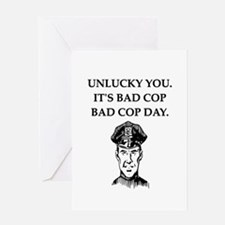 good cop police Greeting Card