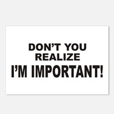 I'm Important Postcards (Package of 8)