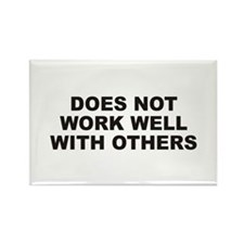 Work Well Rectangle Magnet