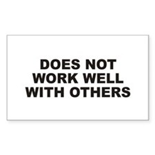 Work Well Rectangle Decal