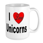 I Love Unicorns Large Mug