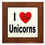 I Love Unicorns Framed Tile