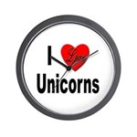 I Love Unicorns Wall Clock