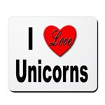I Love Unicorns Mousepad