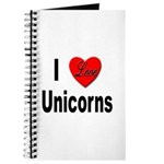 I Love Unicorns Journal